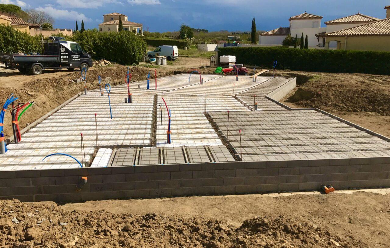 Fondations et terrassement d'une maison à Pezens dans l'aude 11000   SP Construction Carcassonne